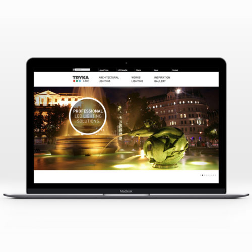 lighting design website homepage landing page
