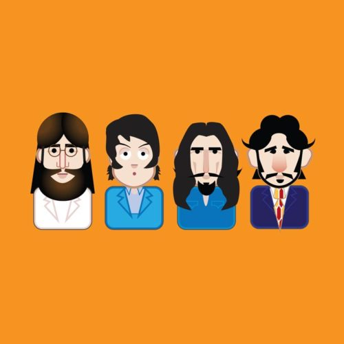 beatles icon character illustration