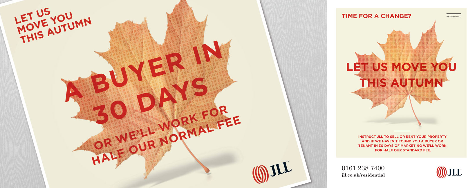 JLL Seasonal Campaign graphic design