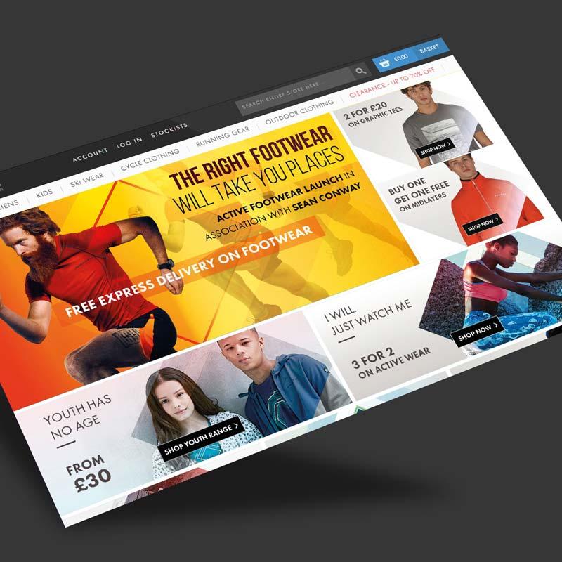 sportwear website design