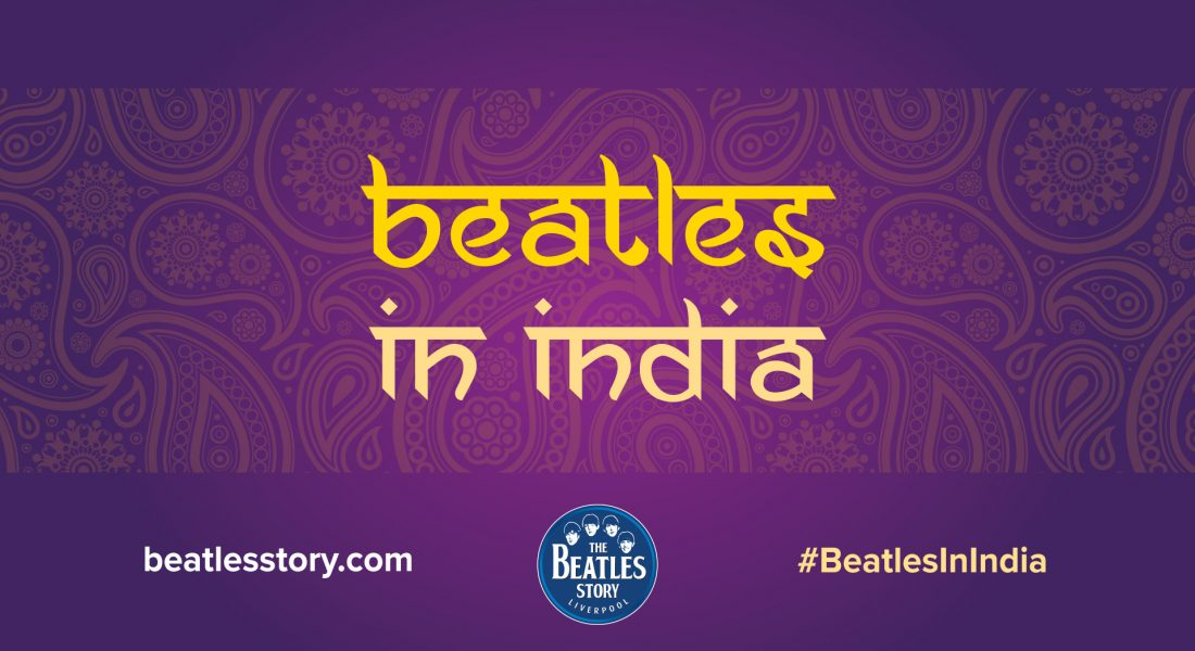 Beatles in India event graphic, GOTO Creative Stockport