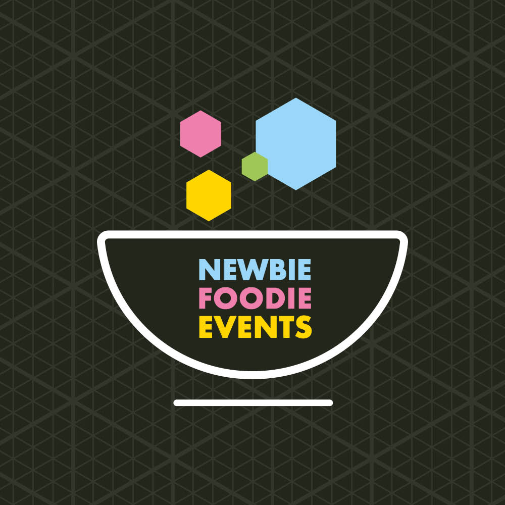 newbie foodie events brand mark identity stockport