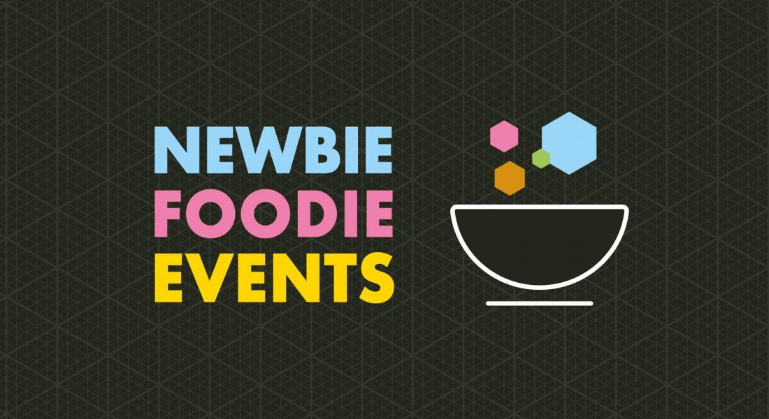 newbie foodie events brand ident