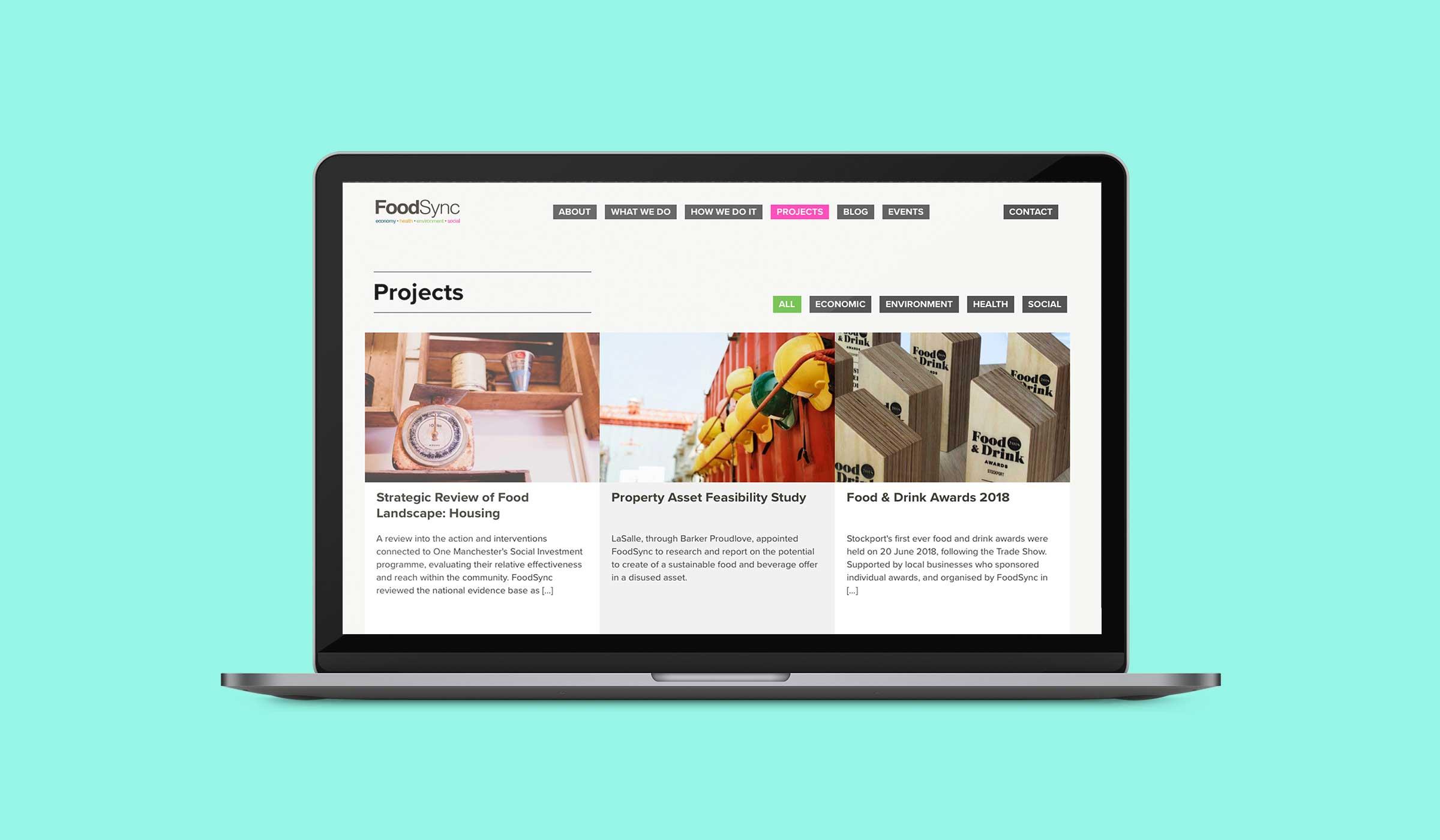 website design for food industry