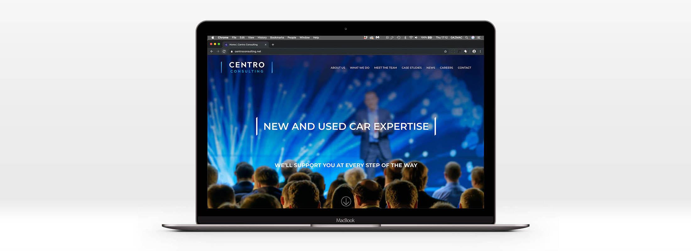 Centro consulting website identity rebrand